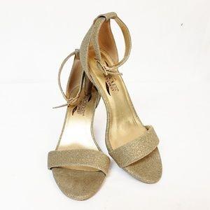Aerosoles Heelrest Glitter Gold Heels 7M 3.25 heel